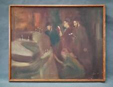 Authentic Oil Painting By Romanian Born Jewish Israeli Artist Adler Adolf (Adi)