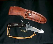 Schrade 158OT Knife Guthook Skinner 1980 Fixed Blade Hunter & Original Sheath