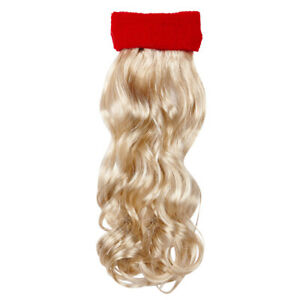 Vokuhila Stirnband rot +  blonde Proll Perücke Vokuhilaperücke 80er Jahre Kostüm
