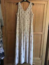 Dorothy Perkins Blush Chevron Embellished Maxi Dress 16 BNWT