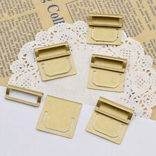 6 Pcs Vintage Brass Bookmark Index Clips Paper Clamp Stationery Assorting Tool