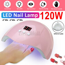 120W LED UV Nail Polish Dryer Lamp Gel Acrylic Curing Light Spa Professional  !!