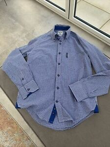 Lambretta  Carnaby Clothing Men's Blue Check Cotton Shirt Small Worn Once
