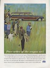 1962 Ford PRINT AD features Country Squire Station Wagon Pace Setter Great Decor