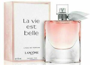 Lancome La Vie Est Belle L'Eau De Parfum Perfume 2.5 oz 75 mL NEW SEALED BOX