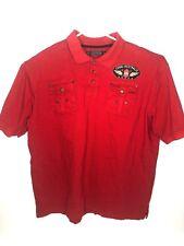 447ecb6d Coogi Australia Men's Short Sleeve Polo Shirt Patriot Eagle 4XL Red