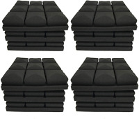 """Acoustic Foam Panel Wedge Studio Soundproofing Wall Tiles 2"""" x 12"""" x 12"""" 12 Pack"""