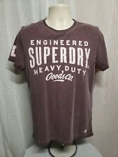 Engineered Superdry Heavy Duty Goods Co Adult Medium Brown TShirt