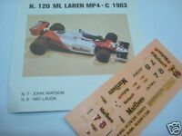 MC LAREN MP4 C F1 1983 WATSON-LAUDA DECALS 1/43 GP