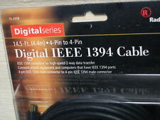 Digital IEEE 1394 FireWire Cables 4Pin-4Pin 14.5 Ft