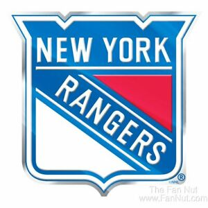 New York Rangers NY Raised 3D COLOR Metal Auto Emblem Home Decal NHL Hockey