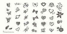 MoYou Nail Fashion Stamping Nail Art Image Plate 1 Bridal Collection Love Flower