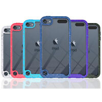 For iPod Touch 5/6/7 Generation 5th 6th Hybrid Shockproof Clear Armor Case Cover