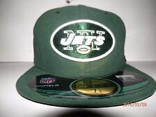 New York Jets NFL New Era 59Fifty ON FIELD Flat Bill Fitted Hat New sz 7 1/8