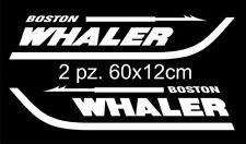 Coppia adesivi barca Boston Whaler