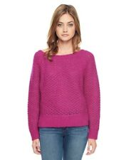 JUICY COUTURE HOT PINK HEARTBREAKER OVERSIZED MESH SWEATER ORG. $178 MEDIUM BNWT
