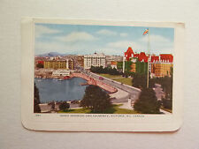 Inner Harbor & Causeway, Victoria, BC circa 1920s fold-out post card