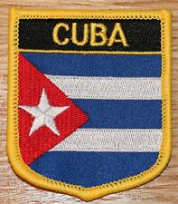 CUBA Shield Country Flag Embroidered PATCH Badge P1