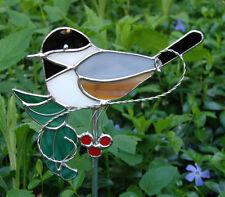 Stained Glass Chickadee Garden Stake