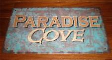 PARADISE COVE Tin Sign Nautical Home Decor Beach Tropical Seaside Wall Decor