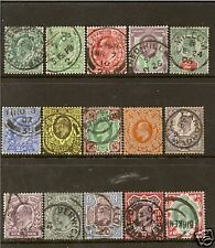 GB EDWARD VII 1902/10 DEFINITIVE SET FINE USED/CDS