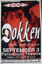 Dokken 1997 Denver Concert Tour Poster - Metal Rules!
