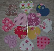 lot de 12 coeurs de tissu patchwork coloris assortis TILDA