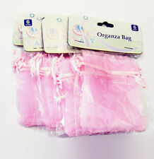 "3""X4"" Organza Gift Bag Jewelry Pouch Wedding Shower Favor NEW Pink"