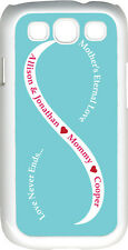 Baby Blue & White Mother's Love Three Red Names Samsung Galaxy S3 Case Cover