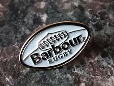 A quality hard enamel Barbour Rugby international pin badge