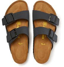 Birkenstock 'Arizona' Birko Flor Slide Sandal Shoes Flats 41 10 Black MRSP $110