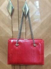 ICONIC CHIC CLASSY TIMELESS Vintage VALENTINO lizard leather RED BAG