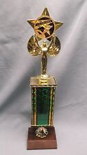 star performer trophy green column female victory