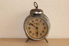Vintage Metal Clock Made In Germany Working Hamburg American - 4'' in diameter