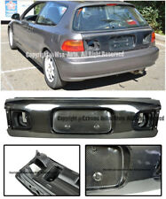 For 92-95 Honda Civic EG6 3Dr OE Factory Style Carbon Fiber Rear Trunk Lid Kit