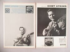 Chet Atkins PRINT AD - 1965 - LOT of 2 ads