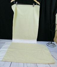 2 Westpoint Stevens Vtg Standard Pillowcase Yellow White Gingham USA