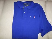 "Ralph Lauren Polo ""Heritage"" Navy Blue Mesh Cotton Classic Polo Shirt M NWT $85"