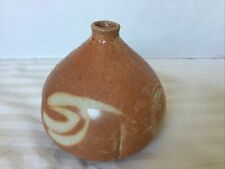 """Suzanne Hill Studio Art Pottery Weed Pot Vase Signed 3.75"""""""