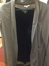 Woman's Millers Black And White Long Sleeve Swing Top, Size 16