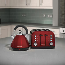 Morphy Richards Accents Kettle & Toaster Set In Red S/Steel 102029 / 242030