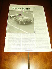 ***ORIGINAL 1986 ARTICLE*** 1986 TOYOTA SUPRA
