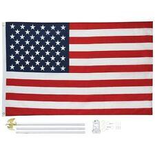 New 3'x5' US FLAG POLE KIT Aluminum Flagpole USA American Stars Stripes Outdoor