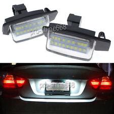 White LED License Plate Lights White For Mitsubishi Lancer Sportback Outlander