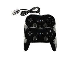 New Black Classic Pro Game Controller Joystick Gamepad Remote for Nintendo Wii