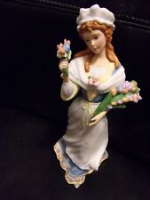 Lenox French Flower Maiden Figurine From the Street Crier Collection