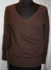 Gap Brown 100% Cashmere V-neck Sweater womens S