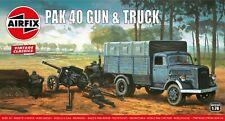 "New Airfix 1:76th Scale ""Vintage Classics"" M3 Pak 40 Gun & Truck Model Kit."