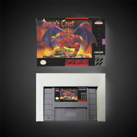 Demon's Crest USA NTSC Version With Retail Box Action Game Super Nintendo SNES