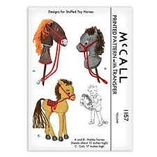Hobby Horse Pony Stick Head Stuffed Animal Colt McCall s 1157 Sewing Pattern Toy